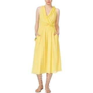 Rachel Roy Womens Sundress Chiffon Surplice