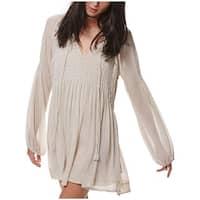 Free People Womens Casual Dress Sheer Smocked