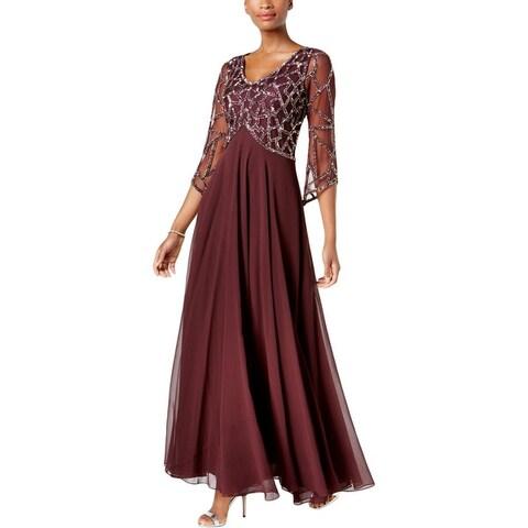 J Kara Womens Evening Dress Special Occasion Full-Length