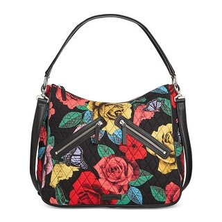Vera Bradley Womens Vivian Hobo Handbag Quilted Floral Print - LARGE