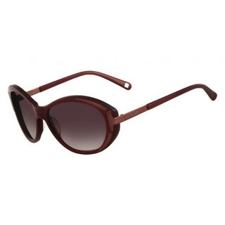 Nine West Womens Oval Sunglasses Oversized Fashion - Bordeaux - o/s