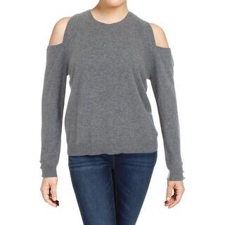 Lauren Ralph Lauren Womens Lissie Sweater Cashmere Cold-Shoulder