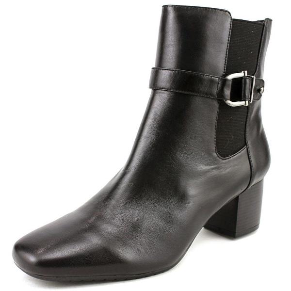 Bandolino Lorillard Women Round Toe Leather Black Ankle Boot
