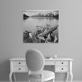 Easy Art Prints Ansel Adams's 'Jackson Lake, Grand Teton National Park' Premium Canvas Art