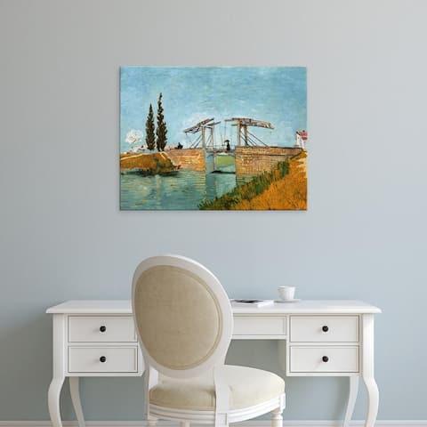 Easy Art Prints Vincent Van Gogh's 'Bridge in Arles' Premium Canvas Art