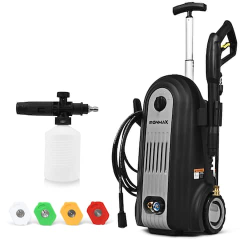 Costway 2800PSI Electric High Pressure Washer Cleaner 1.96GPM 2500W w/ 4 Nozzles