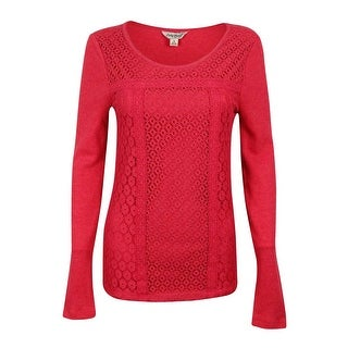 Lucky Brand Women's Long Sleeve Lace Thermal Top