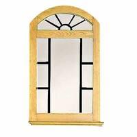Vanity Mirror Windowpane Arch Country Pine 39 H