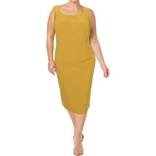 Kasper Womens Plus Wear to Work Dress Sleeveless Office