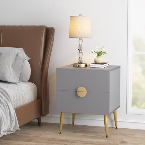 Nightstands, Bedside Table End Table with 2 Drawers