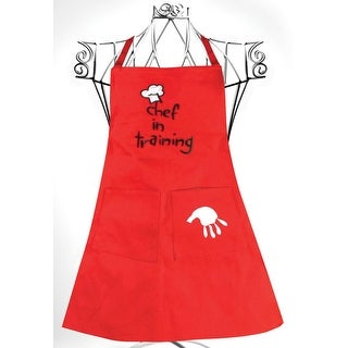 "8"" Red ""Chef in Training""  Children's Adjustable Chef's Apron"