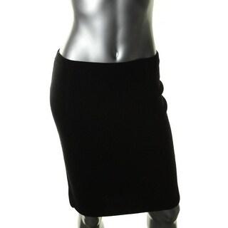 Eileen Fisher Womens Petites Pencil Skirt Merino Wool Knit - pl