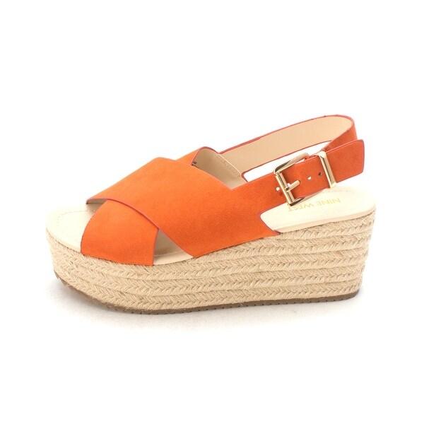 Nine West Womens beachygd Open Toe Casual Platform Sandals - 8.5