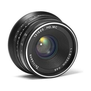 7artisans 25mm f/1.8 Manual Focus Prime Fixed Lens (Black) for Micro Four Thirds - Black