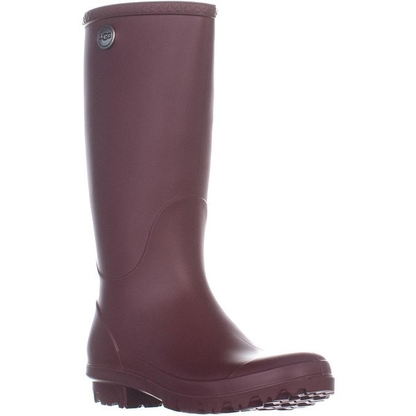 42bbeb9c9e4 Shop UGG Shelby Matte Rain Boots, Garnet - 8 US / 39 EU - Free ...