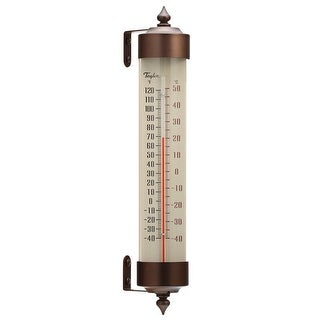 Taylor Long Glass Tube Thermometer 12.25 In. H-Mfg# 482Bz - Sold As 2 Units