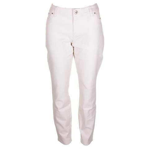 Inc International Concepts Buttercream Regular Fit Skinny-Leg Jeans