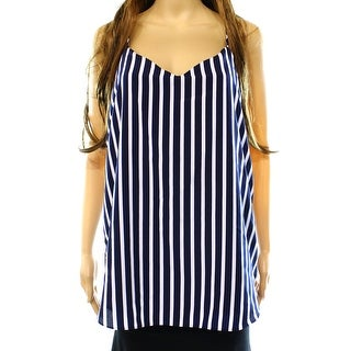 Lauren Ralph Lauren NEW Blue Women's Size 10 V-Neck Striped Cami Blouse