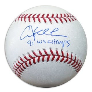 """Chuck Knoblauch Autographed Official MLB Baseball Inscribed """"91 WS Champs"""""""