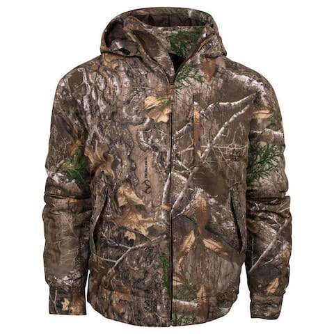 King's Camo Realtree Edge Classic Cotton Insulated Hooded Ripstop Jacket