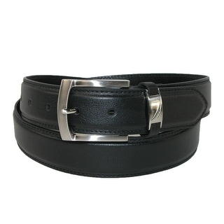 Nautica Men's Leather 40mm Belt with Logo Keeper