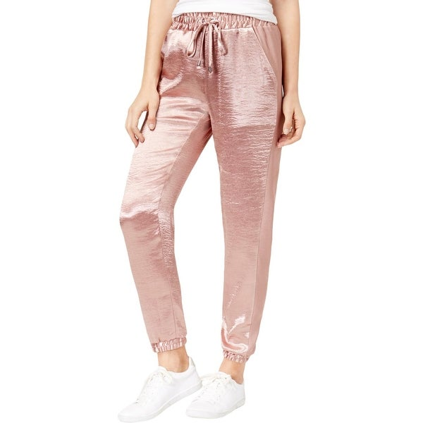 f0e0b1dbcd42 Shop Be Bop Womens Juniors Jogger Pants Satin Drawstring - S - Free  Shipping On Orders Over  45 - Overstock - 27220130