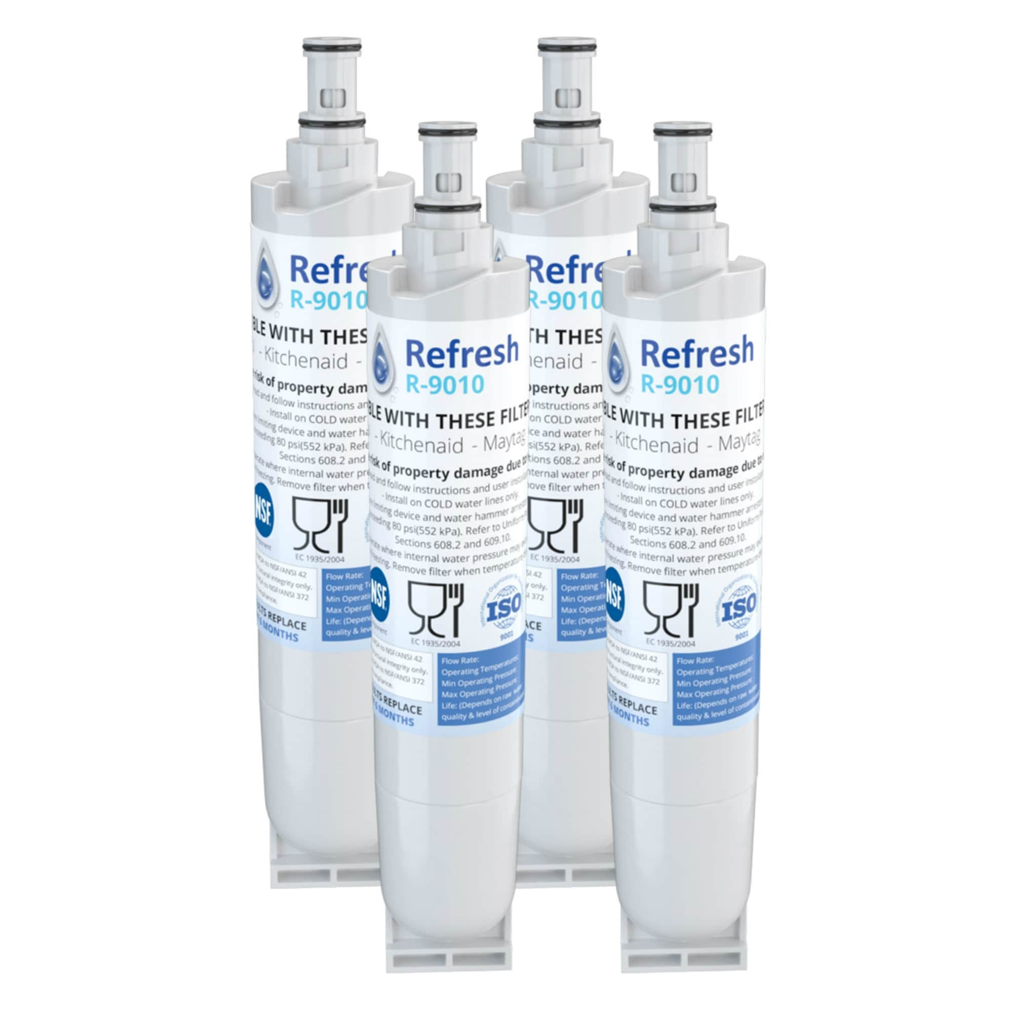 Replacement for Whirlpool 4396508 EveryDrop Filter 5 Kenmore 9010  Refrigerator Water Filter (4 Pack)