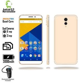 Indigi Unlocked 4G LTE 5.6-inch Android 6.0 Marshmallow SmartPhone (Fingerprint Scan + 2SIM Slots) + Bluetooth Headset