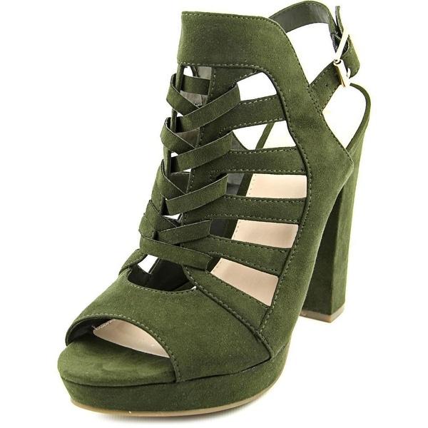 Bar III Nerisa Women Open Toe Synthetic Green Platform Sandal