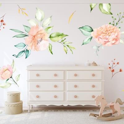 Walplus Oversized Watercolour Flower Floral Wall Sticker Nursery Decor
