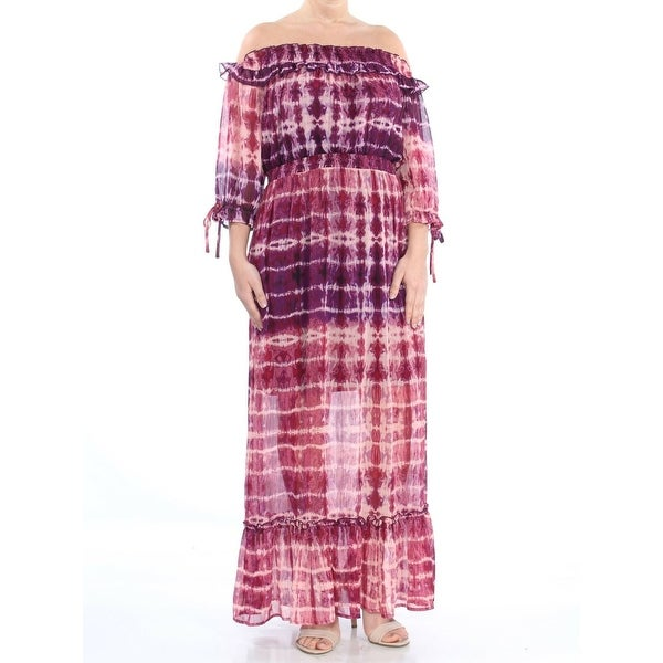 Jessica Simpson Purple Womens Size Medium M Ruffle Maxi Dress