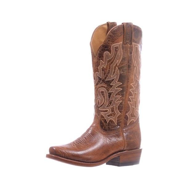 Boulet Western Boots Womens Cutter Heel Pull Tabs Puma Madera