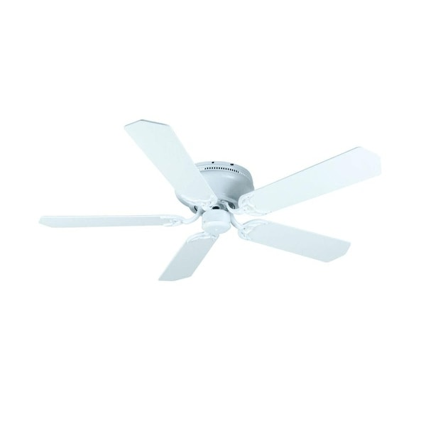 "Craftmade K11006 Contemporary Flushmount 52"" 5 Blade Indoor Ceiling Fan - Blades Included - White"