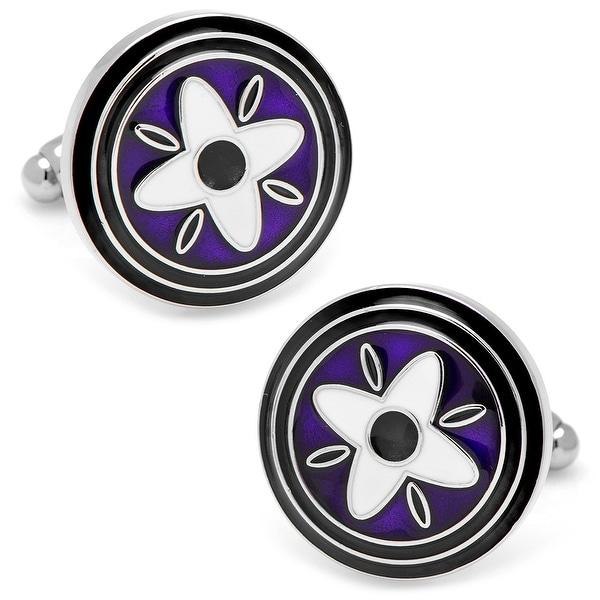 Purple and Black Twilight Star Cufflinks