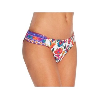 Nanette Lepore Womens Anttigua Siren Floral Print Hipster Swim Bottom Separates