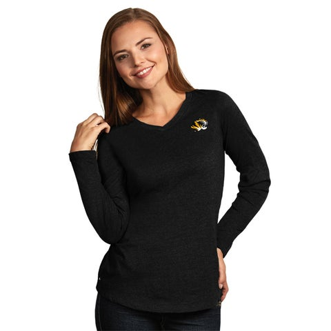 University of Missouri Ladies Heather Jersey V-Neck Tee