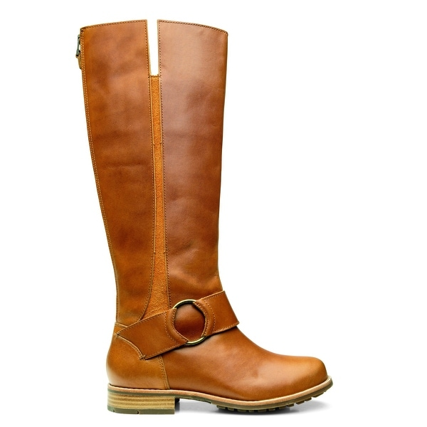 OluKai NEW Brown Shoes Size 5W Knee-High Buckle Leather Boots