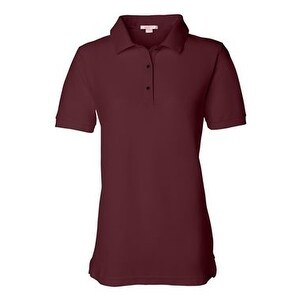 FeatherLite Women's Pique Sport Shirt - Maroon - 3XL