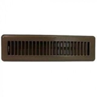 "Mintcraft FR01-2X12B Floor Register, 2"" x 12"", Brown"