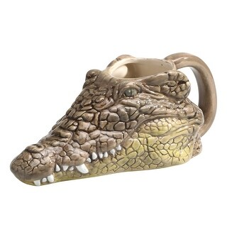Wild 3D Sculpted Animal Mug - Crocodile - Great Gift - 12 Ounces