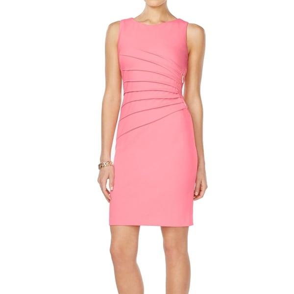Ivanka Trump NEW Pink Women's Size 2 Sheath Starburst-Zip Dress
