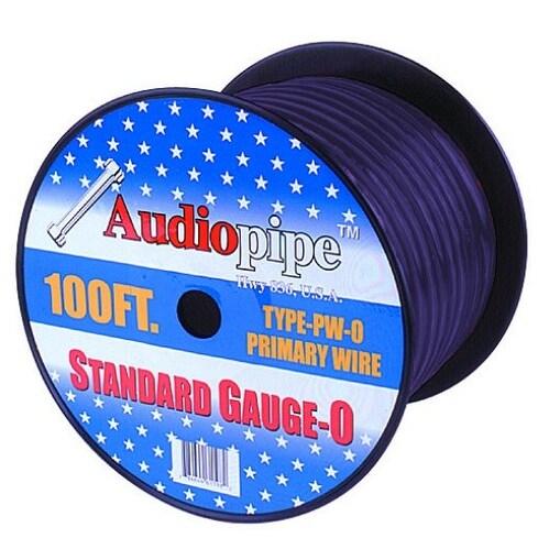 Audiopipe 25' 0 Gauge Black Power Wire