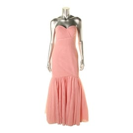 JS Collections Womens Tulle Sweetheart Evening Dress