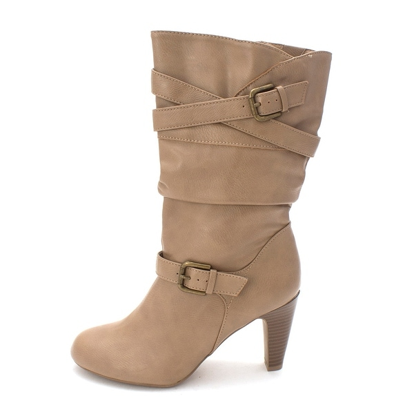 Style & Co. Womens Vicky Almond Toe Mid-Calf Fashion Boots