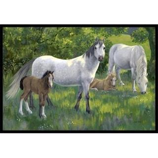 Carolines Treasures ASA2195MAT Group of Horses Indoor or Outdoor Mat 18 x 27