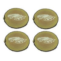 Philadelphia Eagles Set of 4 Glow In the Dark Tree Stump Stepping Stones - TAN