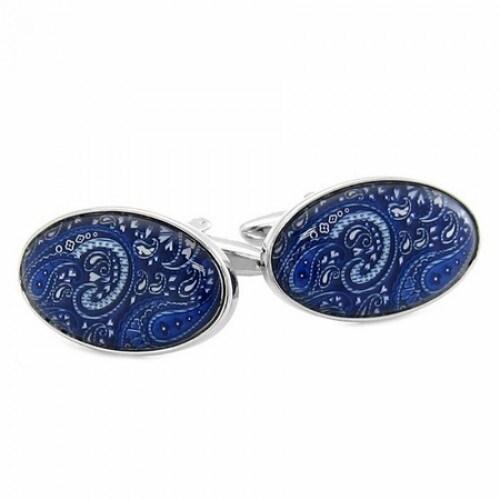 Paisley Cufflinks In Blue