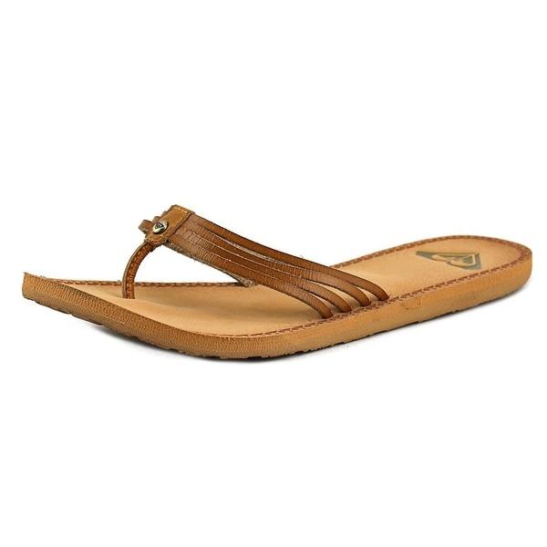 Roxy Riviera Women  Open Toe Synthetic Tan Flip Flop Sandal