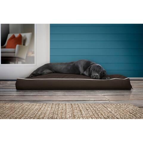FurHaven Pet Bed Deluxe Solid Indoor/Outdoor Water-Resistant Pillow Dog Bed