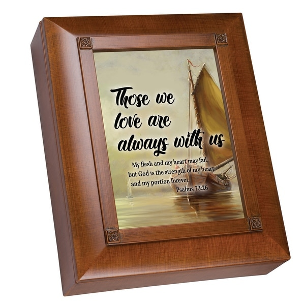 """10"""" Brown and Beige Remembrance Box with Heartfelt Poem - N/A"""